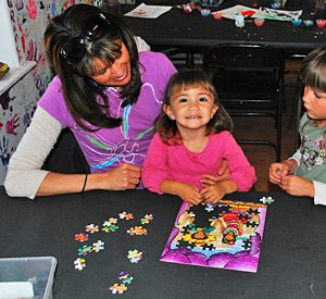KQ Ranch Resort - Puzzle makin at the KQ Kids Club