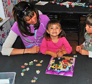 KQ Ranch Resort - Puzzle makin at the KQ Kids Club