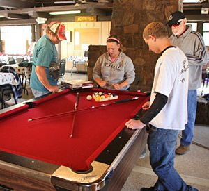 KQ Ranch Resort - Playing pool at the KQ Ranch Clubhouse